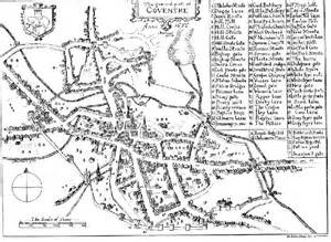 Speed's 1610 map of Coventry